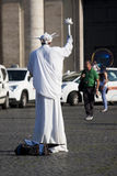 Statue of liberty human Royalty Free Stock Photo