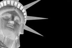 Statue of liberty inverted. Variation of the Statue of Liberty in negative stock photography