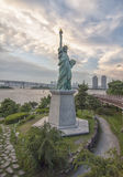 Statue of Liberty on the island of Odaiba in Tokyo Stock Image