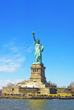 Statue of Liberty Island in Upper Bay Royalty Free Stock Image