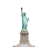 Statue of Liberty isolated on white background in New York City, Stock Image