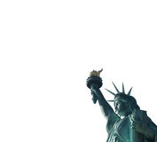 The Statue of Liberty, isolated on white background - side view Stock Photos