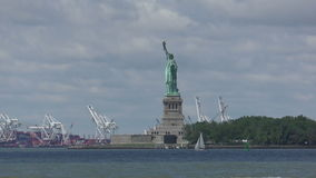 Statue of Liberty in 4K stock video footage