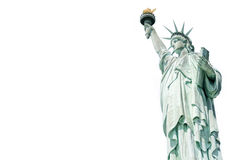 The Statue of Liberty, Landmarks of New York. Isolated white background with copy space Stock Photos