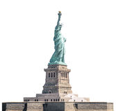 The Statue of Liberty, Landmarks of New York, isolated white background Stock Photos