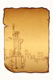 Statue of Liberty on Letter Royalty Free Stock Photography