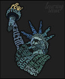 The statue of liberty lettering poster Royalty Free Stock Photography
