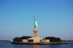 Statue of Liberty on Liberty Island in New York. City, USA stock photography