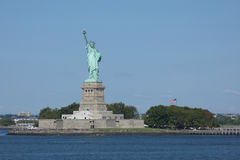 Statue of Liberty and Liberty Island. The Statue of Liberty, on Liberty Island, in New York City royalty free stock photo