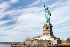 The statue of Liberty and liberty island. New York City, USA royalty free stock photo