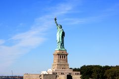 Statue of Liberty, New York city. The Statue of Liberty on Liberty Island in New York Harbor in New York City, United States Royalty Free Stock Image