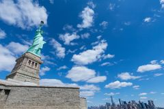 The Statue of Liberty and Manhattan, New York City, USA stock photography