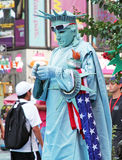 Statue Of Liberty Mime Stock Photography
