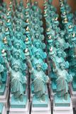 The Statue of Liberty Miniatures. Lined up Statue of Liberty miniatures Stock Photos