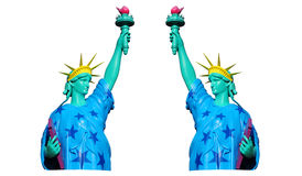 Statue of liberty model in white background Stock Photography