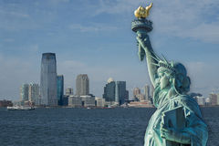 Statue of Liberty and New Jersey. Stock Image