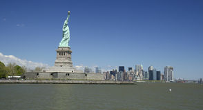 Statue of Liberty and New York Royalty Free Stock Photography