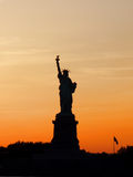Statue of Liberty New York. Silhouette Statue of Liberty New York Stock Photography