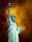 Statue Liberty New York Background Stock Image