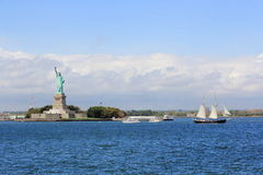 Statue of Liberty. The Statue of Liberty in the New York Bay Royalty Free Stock Image