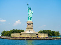 The Statue of Liberty in New York on a beautiful day Stock Images