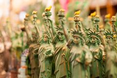 The Statue of Liberty at New York City Stock Images