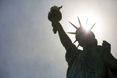 The Statue of Liberty. In New York City royalty free stock photo