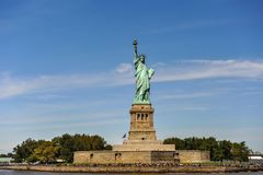 Statue of Liberty in New York City. Scenic view of Statue of Liberty, New York city harbor, U.S.A stock image