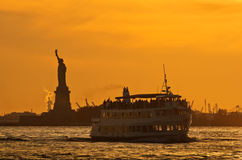 Statue of Liberty, New York City. Statue of Liberty in New York City at sunset Royalty Free Stock Photos