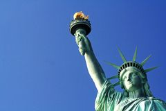 Statue of Liberty New York city USA. Close up shot of The Statue of Liberty in New York city with space alloted for text Royalty Free Stock Photos