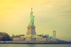 Statue of Liberty, New York City , USA .  ( Filtered image proce Royalty Free Stock Photography