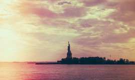 Statue of Liberty, New York City , USA .  ( Filtered image proce Royalty Free Stock Photos