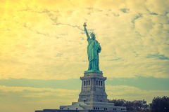 Statue of Liberty, New York City , USA .  ( Filtered image proce Stock Photo