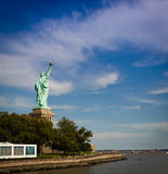 The Statue of Liberty, New York. The Statue of Liberty is a colossal neoclassical sculpture on Liberty Island in New York Harbor in New York City, in the United Stock Photos