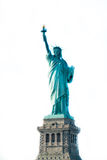 Statue of Liberty in New York. Front view isolated on white Stock Images