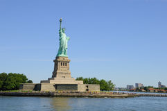 Statue of Liberty in New York Harbor Royalty Free Stock Photo