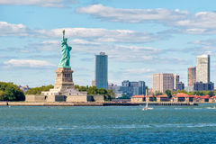 The Statue of Liberty on the New York Harbor Stock Photo