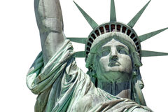 Statue of liberty in New York isolated on white Royalty Free Stock Photo