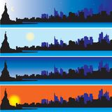 Statue of Liberty with New York Skyline stock illustration