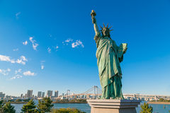 Statue of Liberty in Odaiba area, Tokyo royalty free stock images