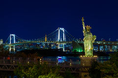 Statue of Liberty in Odaiba area, Tokyo. Japan stock photos