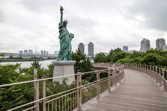 Statue of liberty in Odaiba, Tokyo. Japan Royalty Free Stock Images