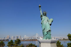 Statue of liberty in Odaiba, Tokyo Royalty Free Stock Images