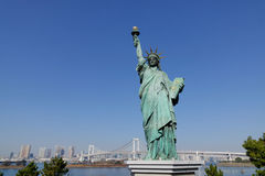 Statue of liberty in Odaiba, Tokyo Royalty Free Stock Photography