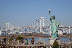 Statue of liberty in Odaiba, Tokyo Royalty Free Stock Photos