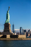 Statue of liberty. Overseeing downtown Manhattan Stock Photo