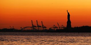 Statue of Liberty Panorama Stock Images