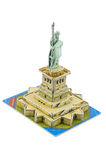 Statue of Liberty paper model Royalty Free Stock Image