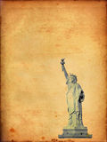 Statue of Liberty on old paper Stock Photo