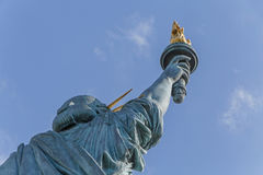 Statue of Liberty in Paris. Back side of Statue of Liberty in Paris Stock Photography